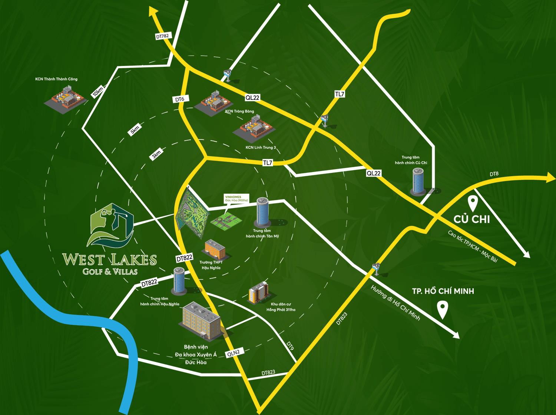 Vị trí Dự án West Lakes Golf & Villas