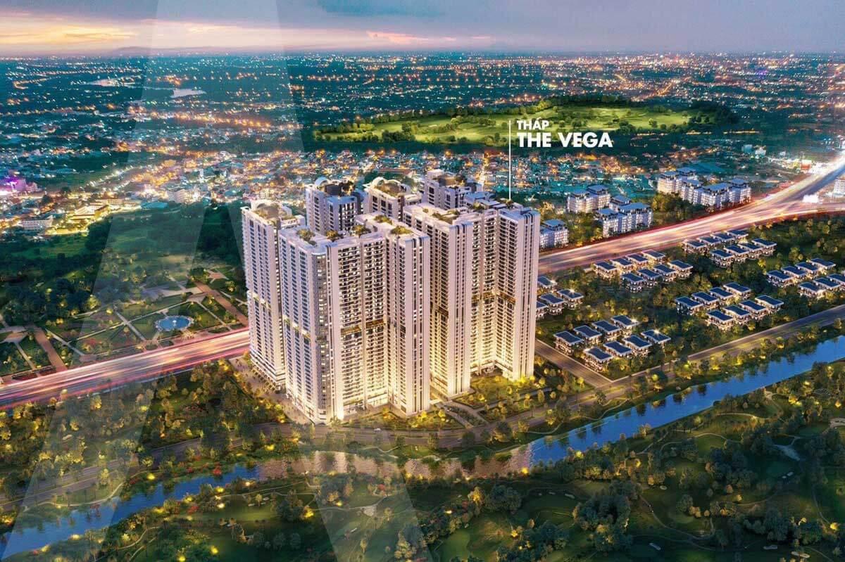 Tháp The Vega Dự án Căn hộ Astral City Bình Dương