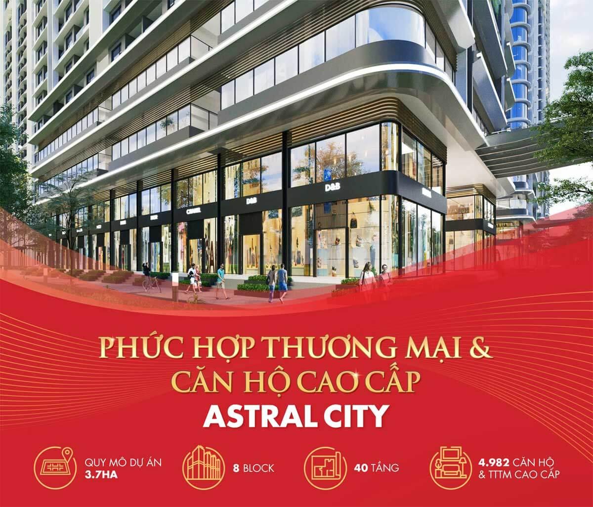 Khu Shophouse Astral City Bình Dương